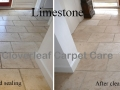 Limestone floor cleaning
