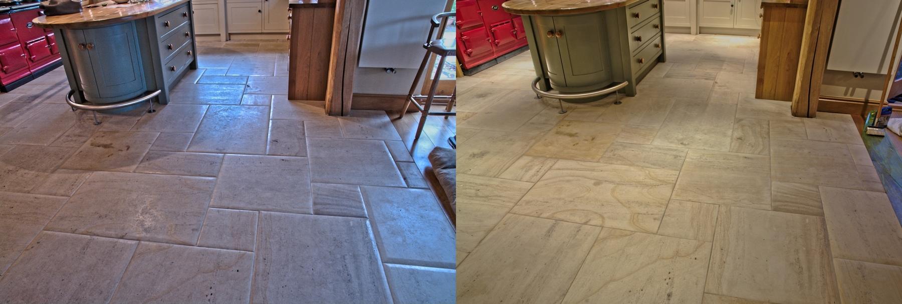Limestone stone floor restoration