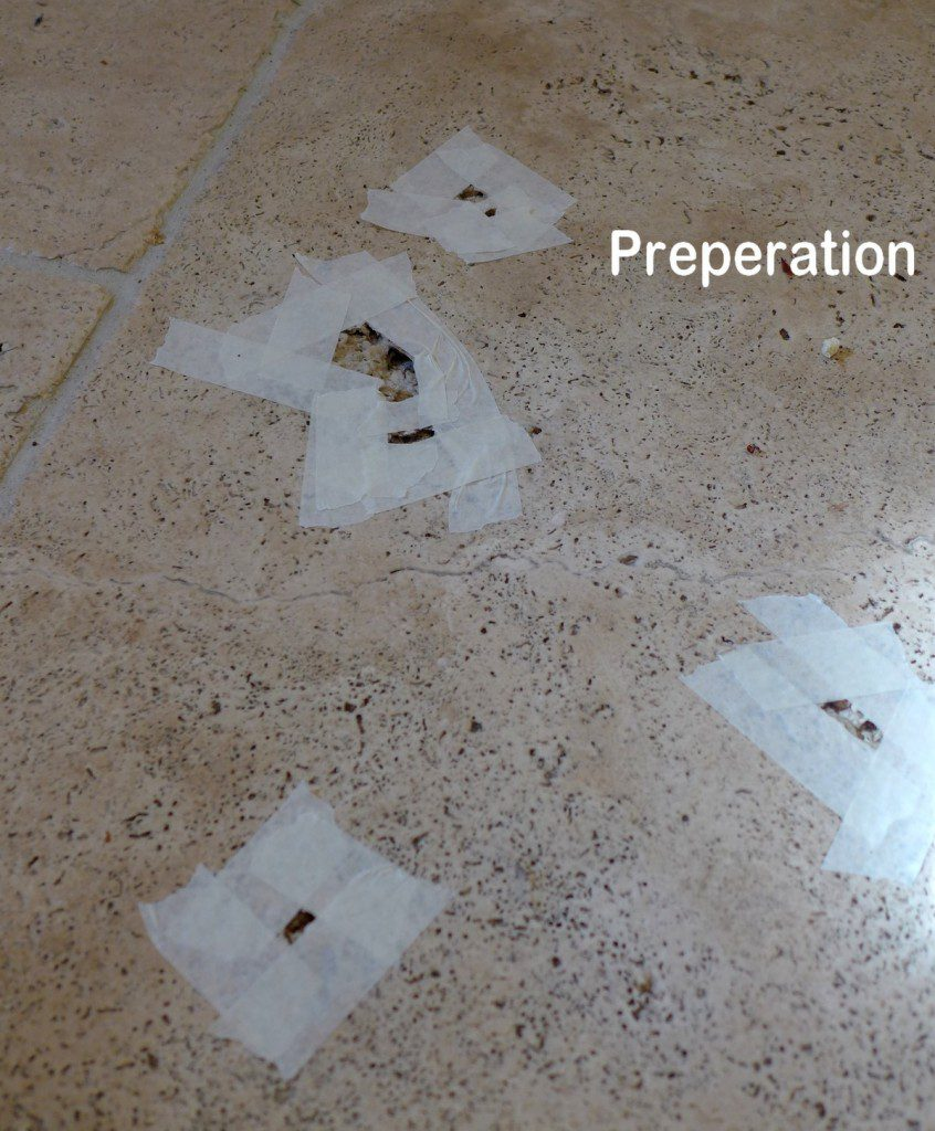 holes filled in travertine floor
