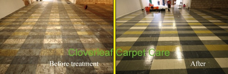 cleaning of commercial floor