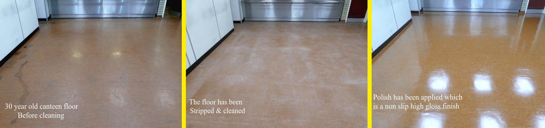 Commercial floor restoration in Cheshire