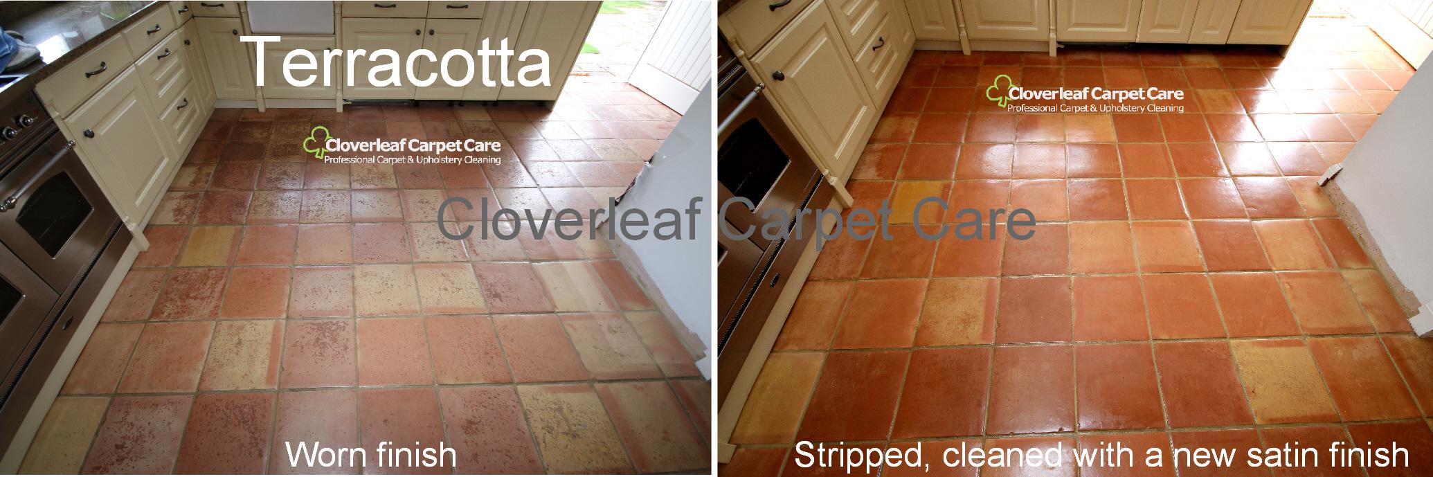 Terracotta-floors-cleaned-sealed-in Cheshire
