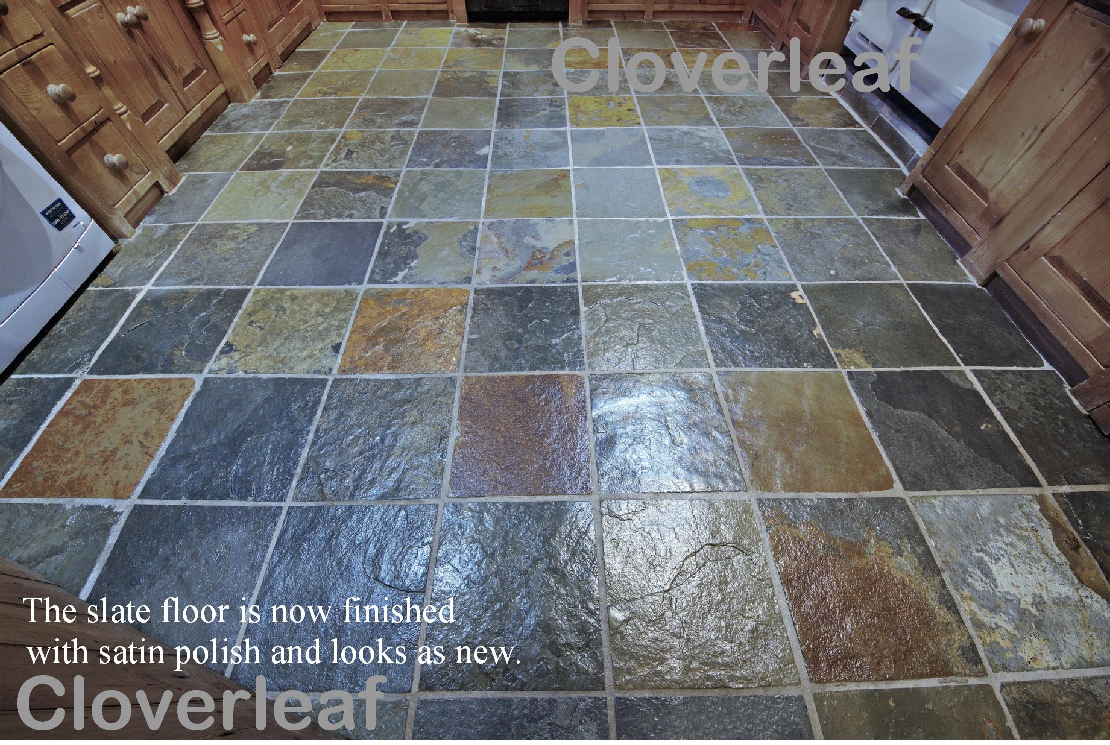 slate floor sealed