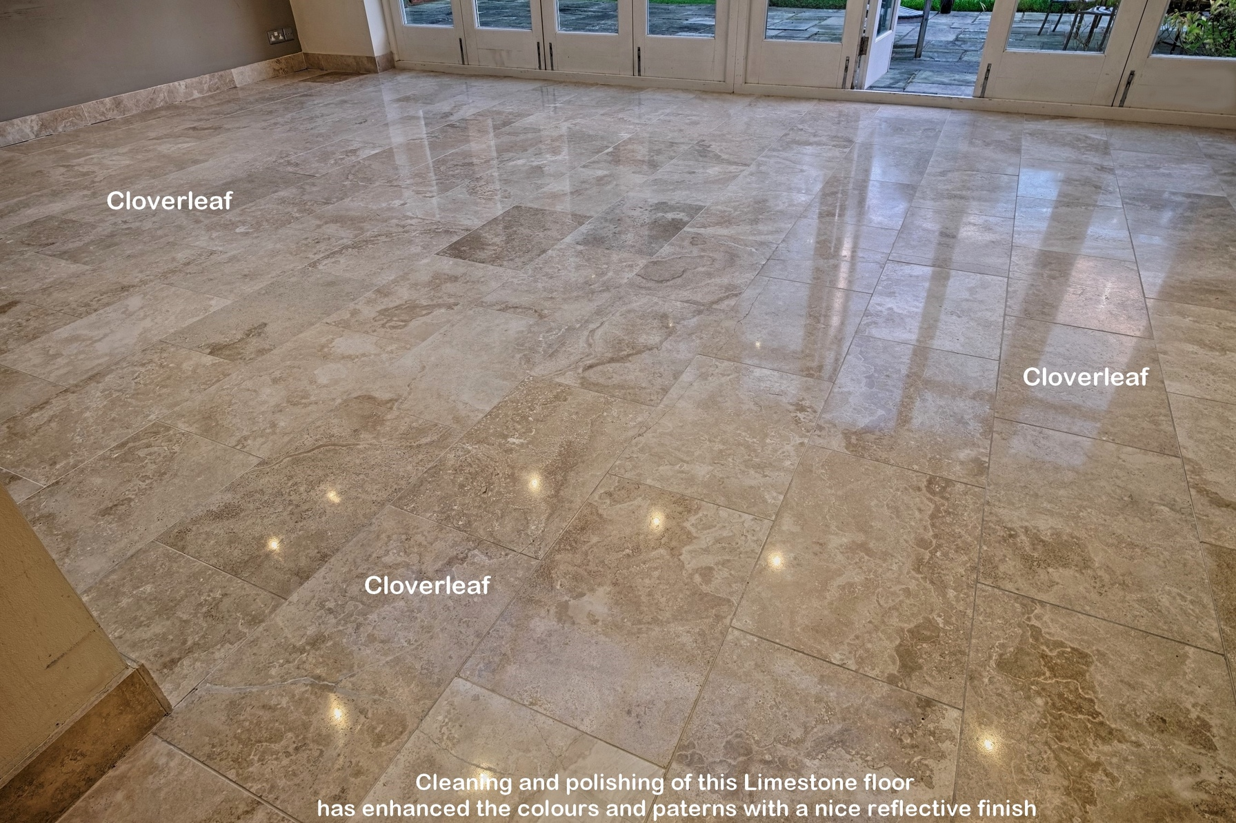 Travertine and limestone floor tile cleaning service cheshire for Opposite of floor