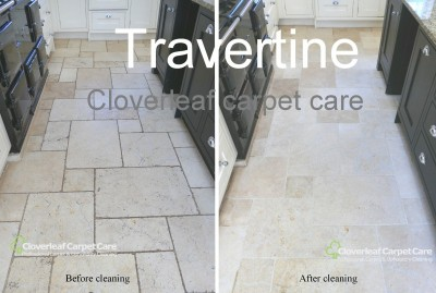 travertine-floor-tiles-cleaned-scrubbing-machine