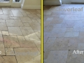 travertine floor befor after