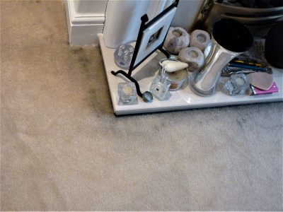 filtration soiling on carpet