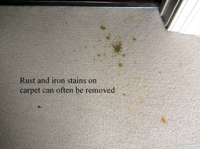how to remove radiator stans from carpet