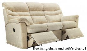 reclining chairs cleaned