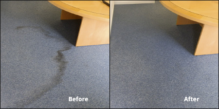 how to remove water stain from office carpet