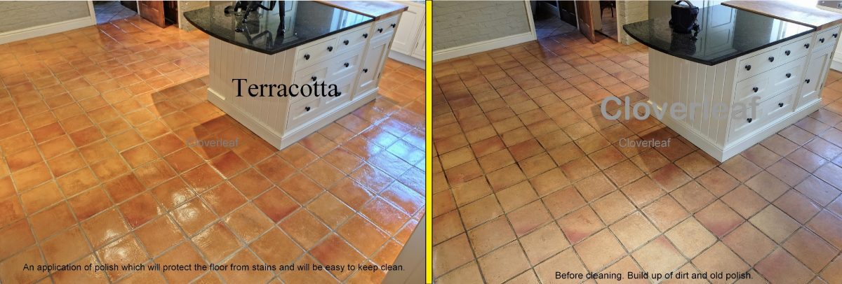 terracotta before and after cleaning