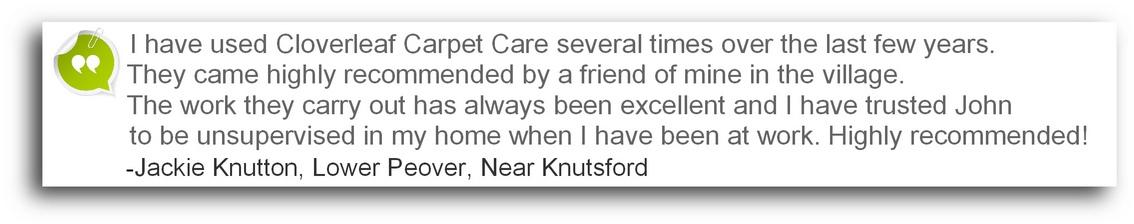 testimonial Winsford