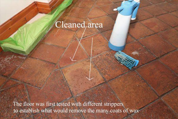 cleaning Terracotta floor