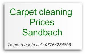 carpet cleaning prices Sandbach
