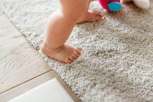 baby oil on carpet