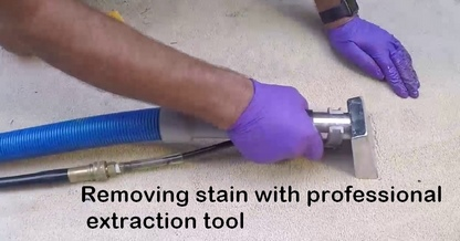 professional cleaning of re occurring carpet stain