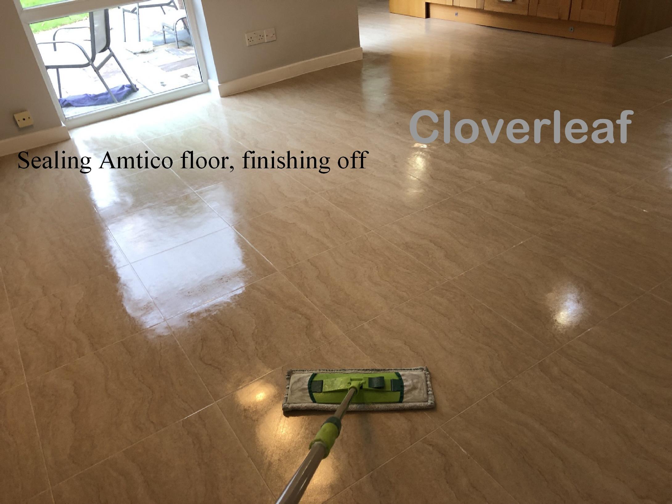 satin finish floor seal for Amtico