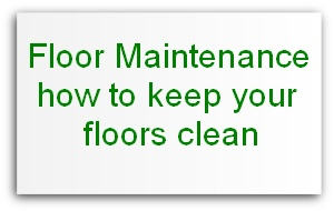 how to keep floors clean