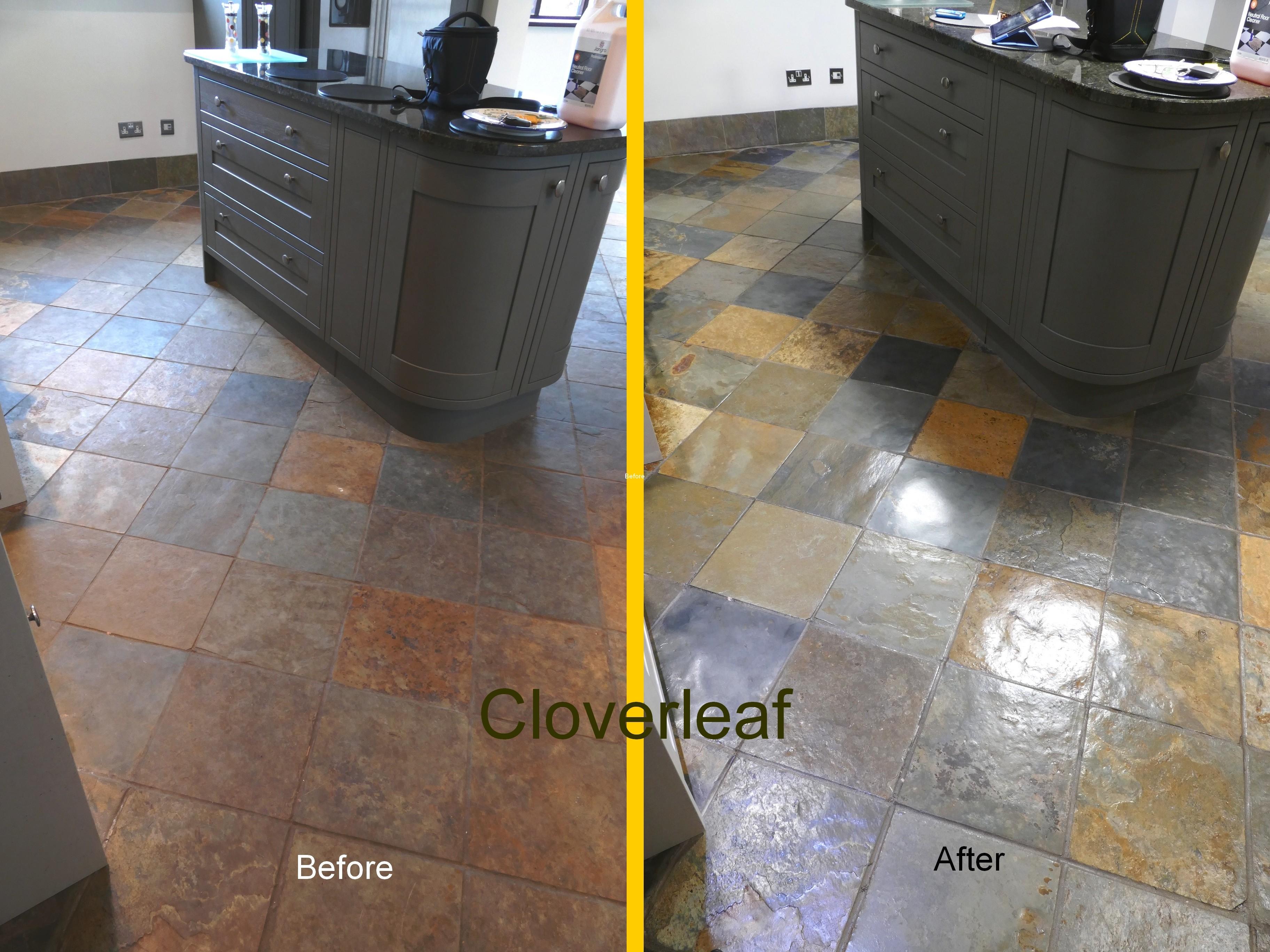 Slate floor restoration