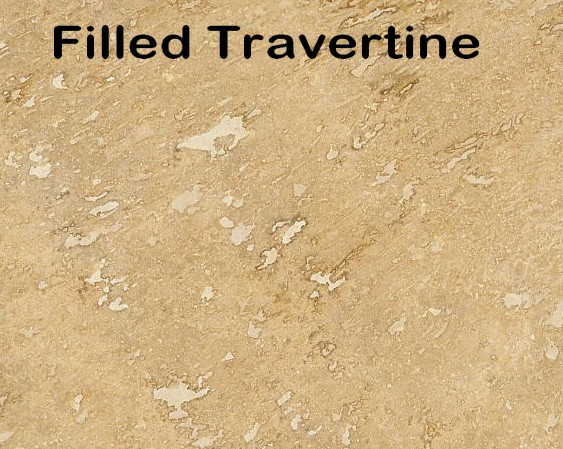 Filled Travertine floor tile