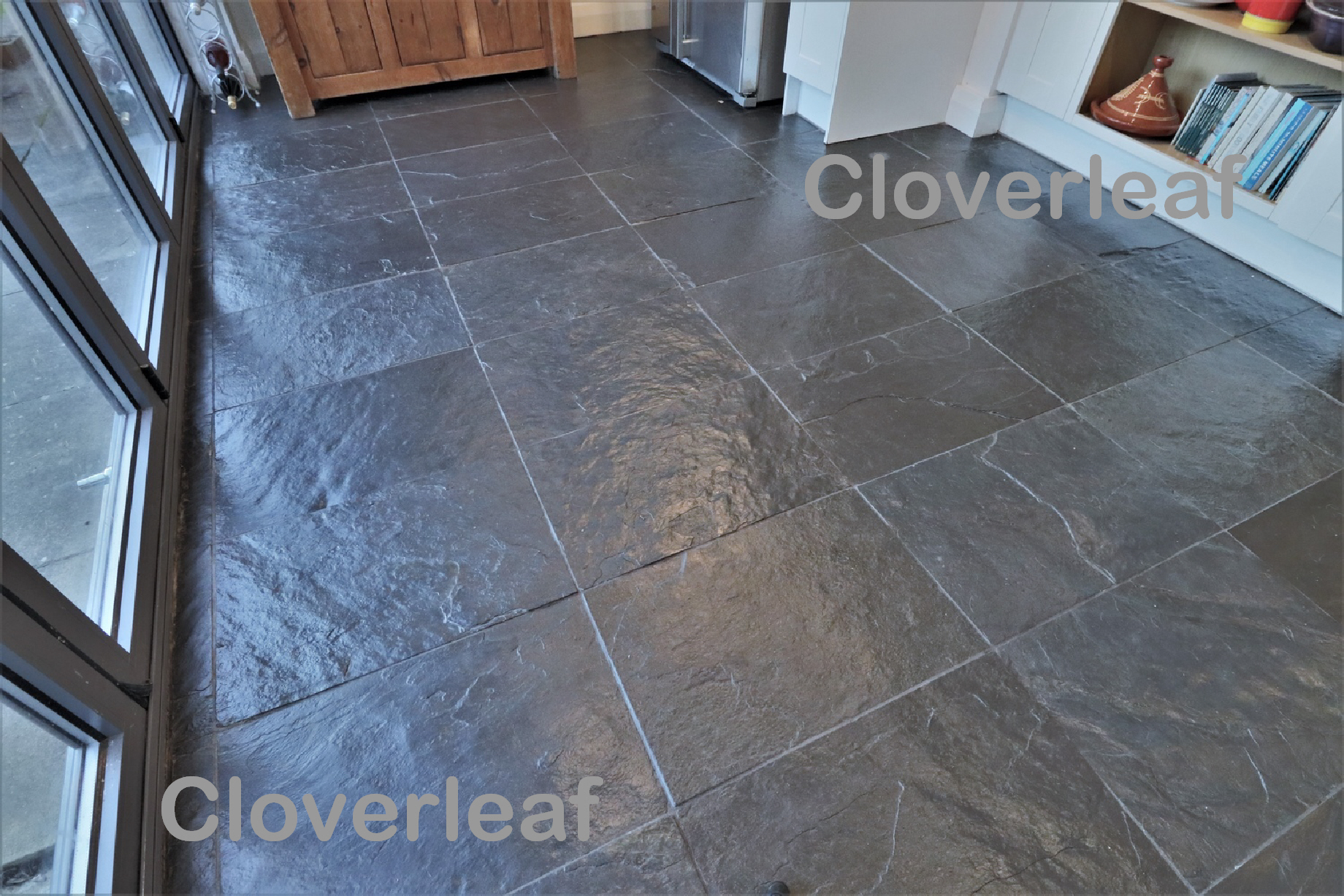 slate floor cleaning Nantwich Cheshire