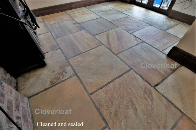 Sandstone floor restoration Cheshire