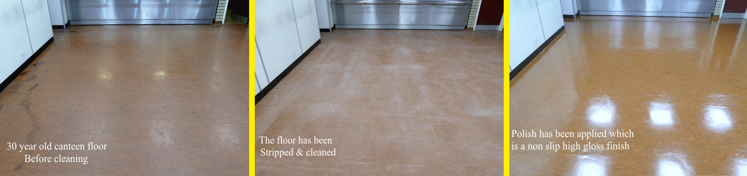 Commercial floor restoration in Cheshire