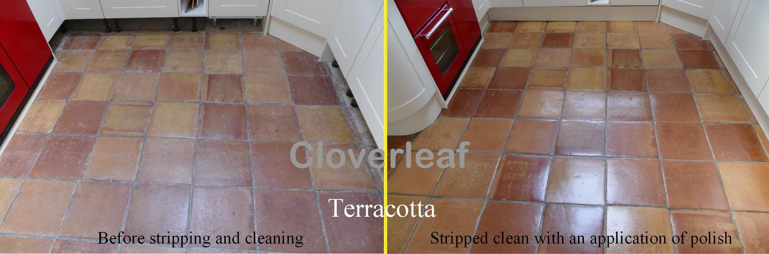 Terracotta floor restoration Cheshire
