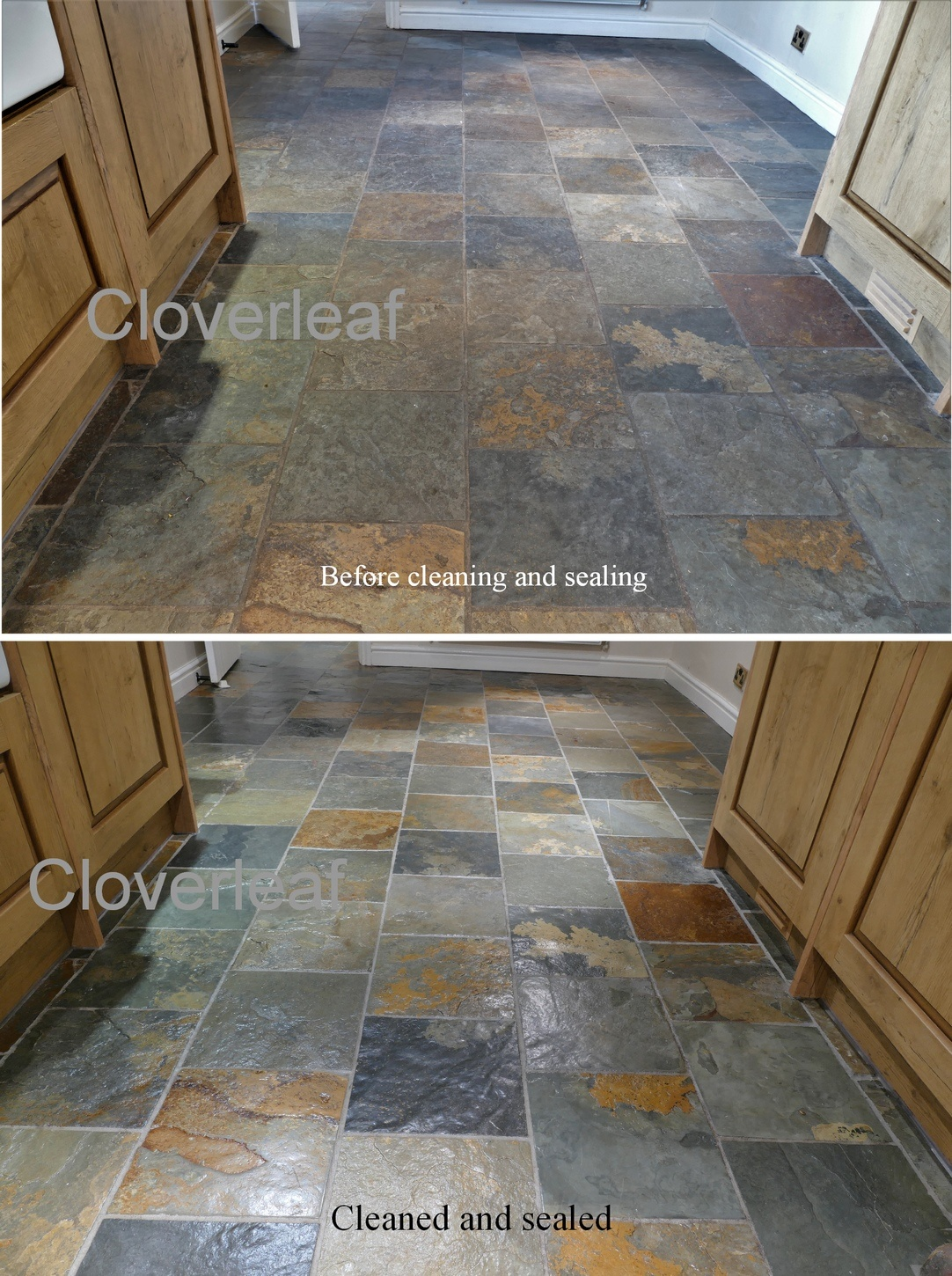 how to clean slate floors before sealing