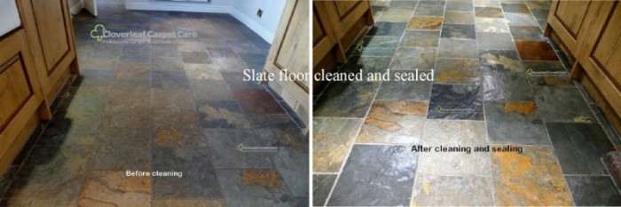 Stone floor restoration and cleaning Cheshire