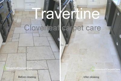 travertine-floor-tiles-cleaned-scrubbing-machine