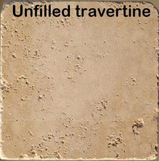 Unfilled Travertine
